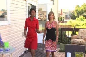 Designer Cathy Hobbs with Marlaina Teisch Sharing Tips on Outdoor Entertaining
