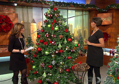 celebrity interior designer cathy hobbs shares fun christmas tree decorating ideas - Red And Green Christmas Tree Decorations