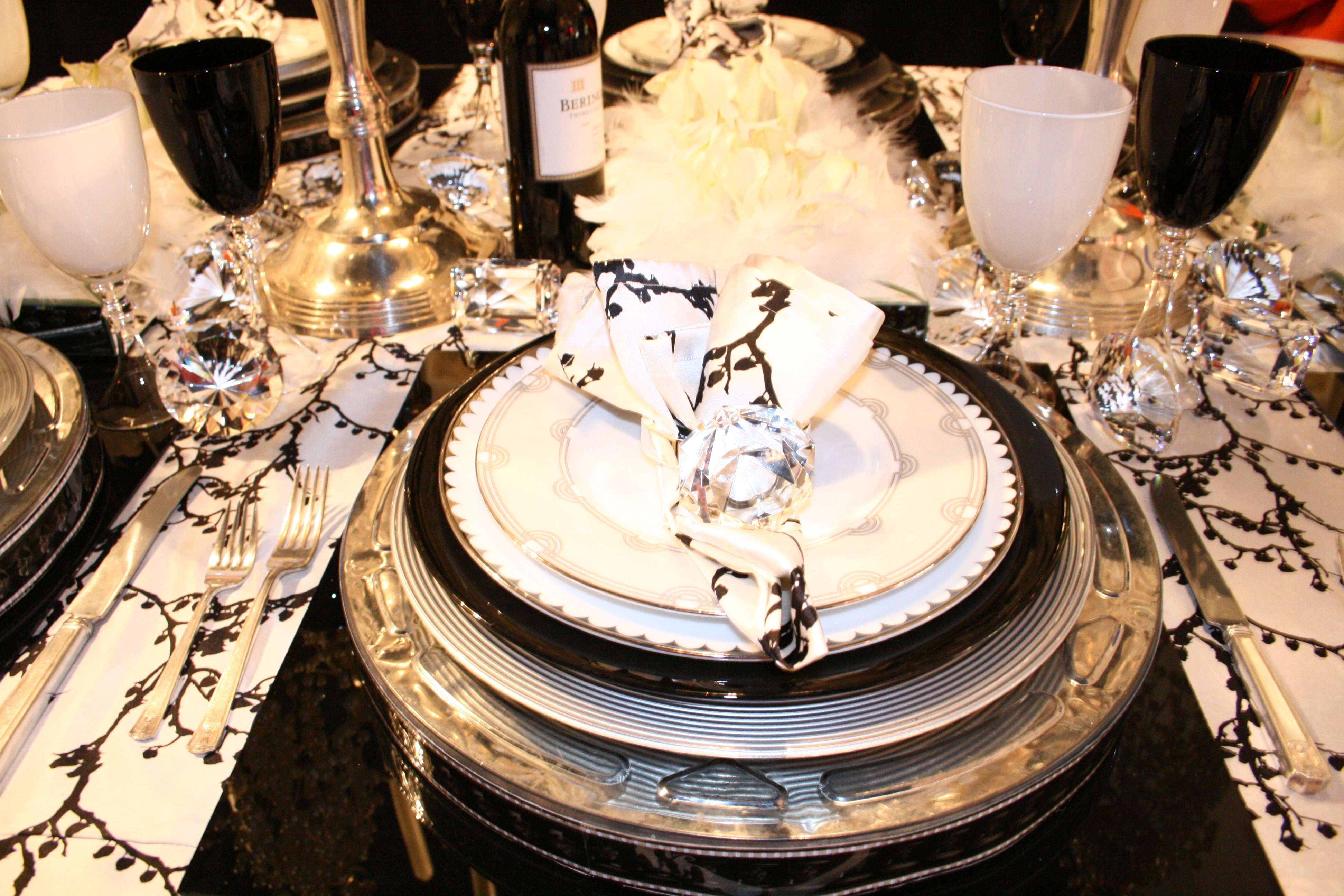 Dining table fine dining table settings for Table setting design