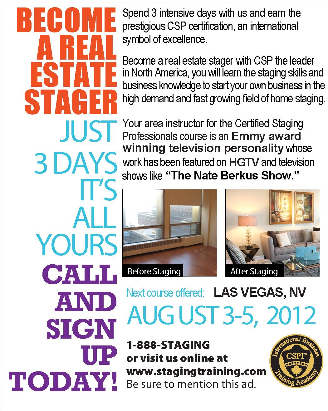 Interior design home staging courses - Be Sure To Check Out Www Stagingtraining Com For A Full Course Schedule Or Call 888 Staging For Free Info On How To Join Me And Become A Home Stager
