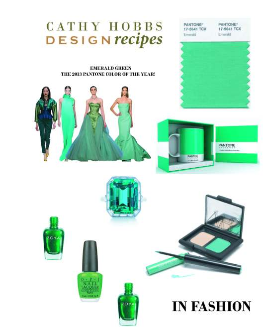 EMERALD GREEN PANTONE COLOR OF 2013