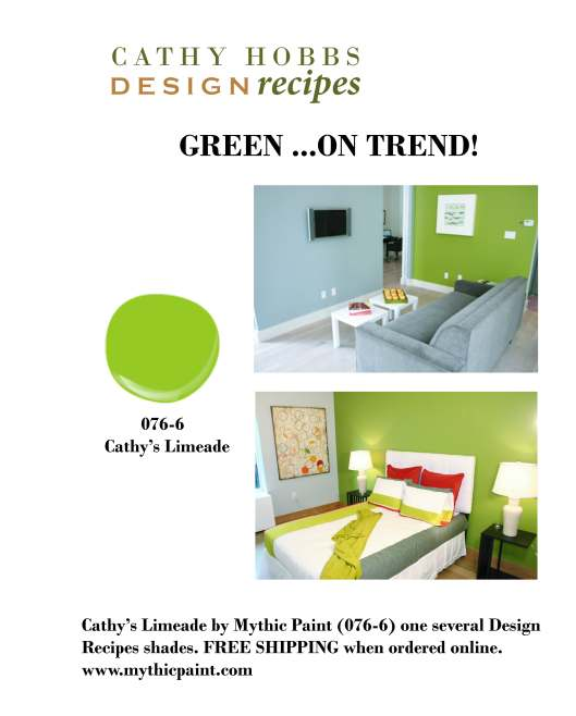 CATHY'S LIMEADE COLOR 076-6 FOR MYTHIC PAINT