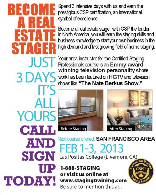 SAN FRANCISCO AREA HOME STAGING COURSE