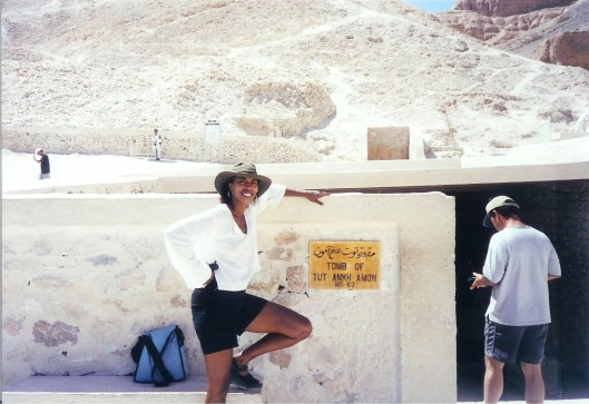 Interior Designer Cathy Hobbs at the tomb of King Tut (Valley of the Kings) Egypt
