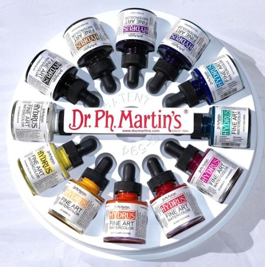 "The ""secret"" ingredient! Vibrant Dr. Martin's Watercolor"