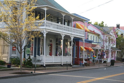 The lovely streets of St. Michaels, Maryland