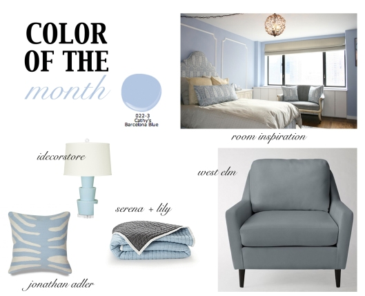 August Color of the Month Blue