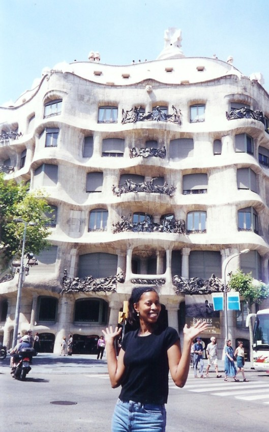 Interior Designer Cathy Hobbs on location in Barcelona, Spain