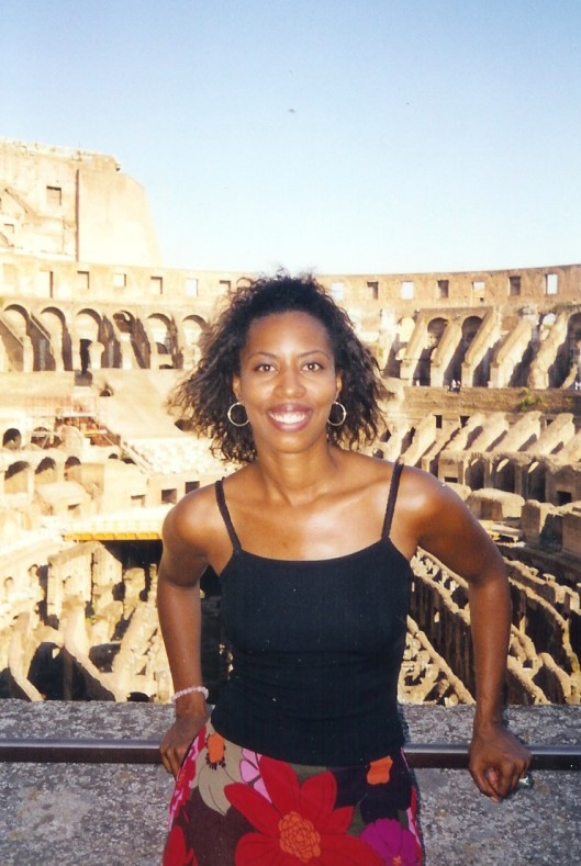 Interior Designer Cathy Hobbs on location in ROME, ITALY