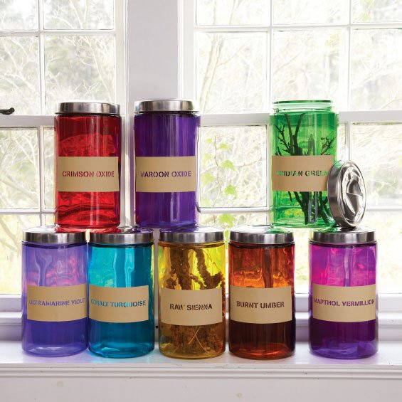 bright colorant transitional decorative jars - Decorative Jars